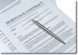 Picture of a mortgage contract